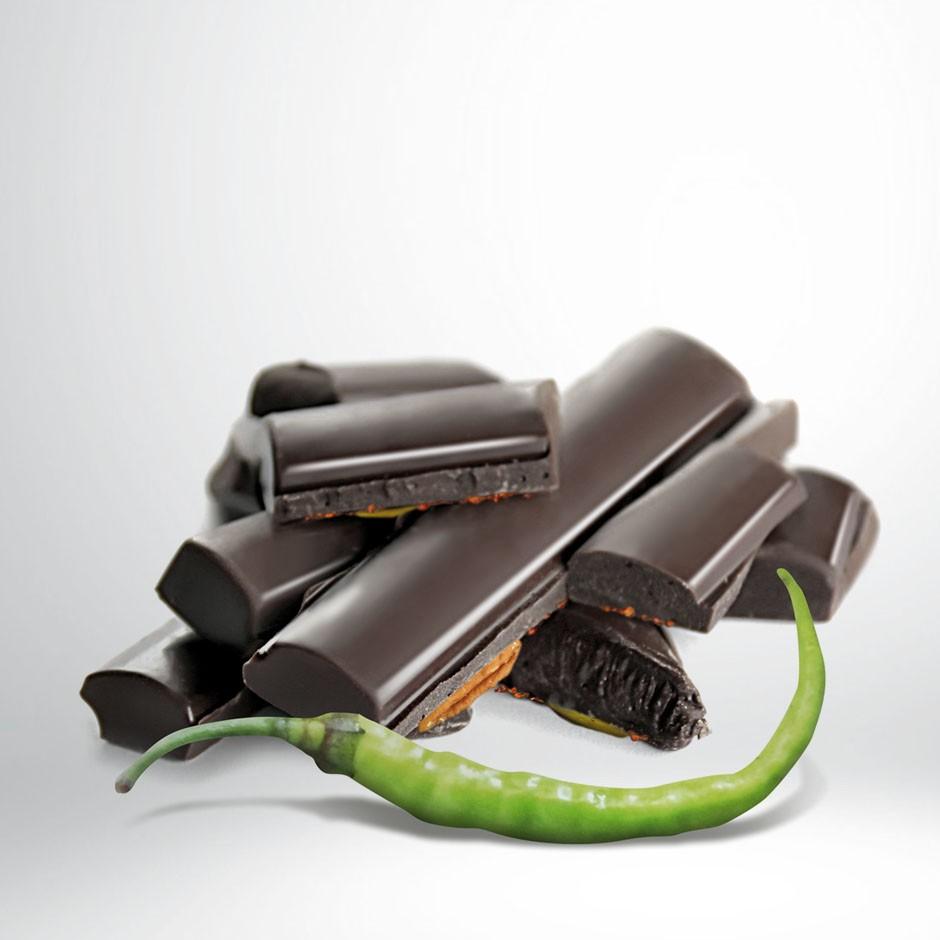 CHOCOLATE NEGRO 70% CON GUINDILLA DE IBARRA