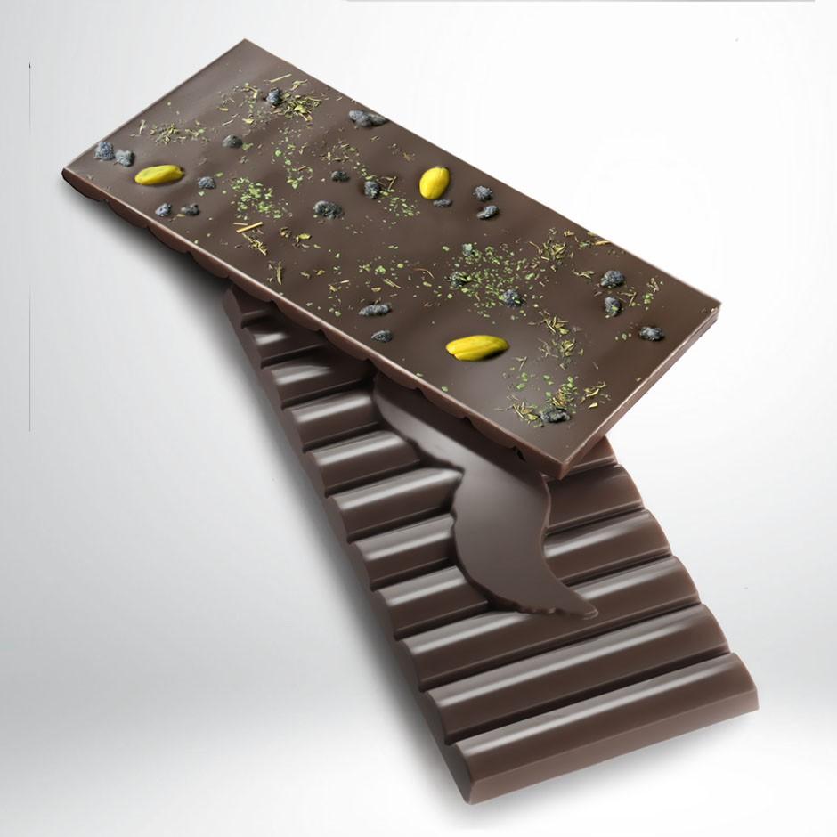 CHOCOLATE NEGRO 56% CON MENTA Y HIERBABUENA