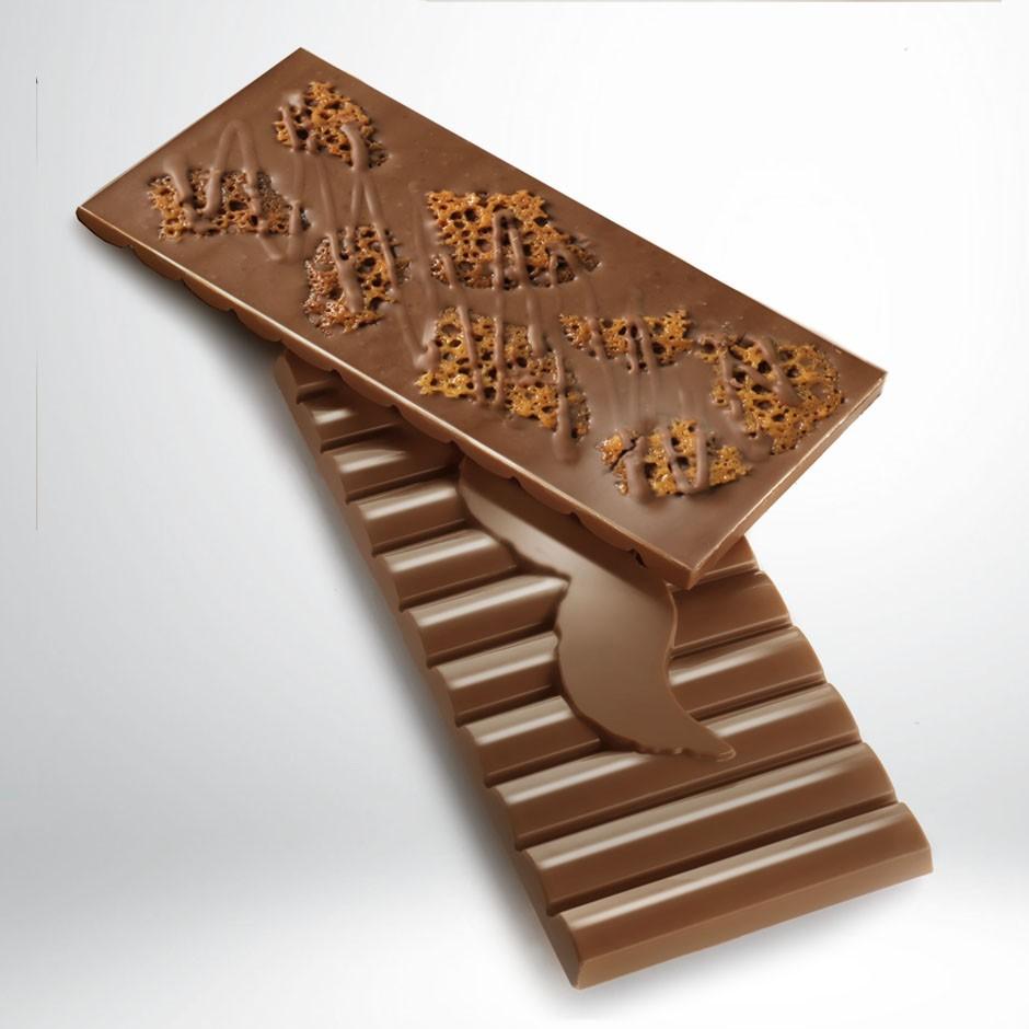 CHOCOLATE CON LECHE 42% CON TEJAS DE ALMENDRA