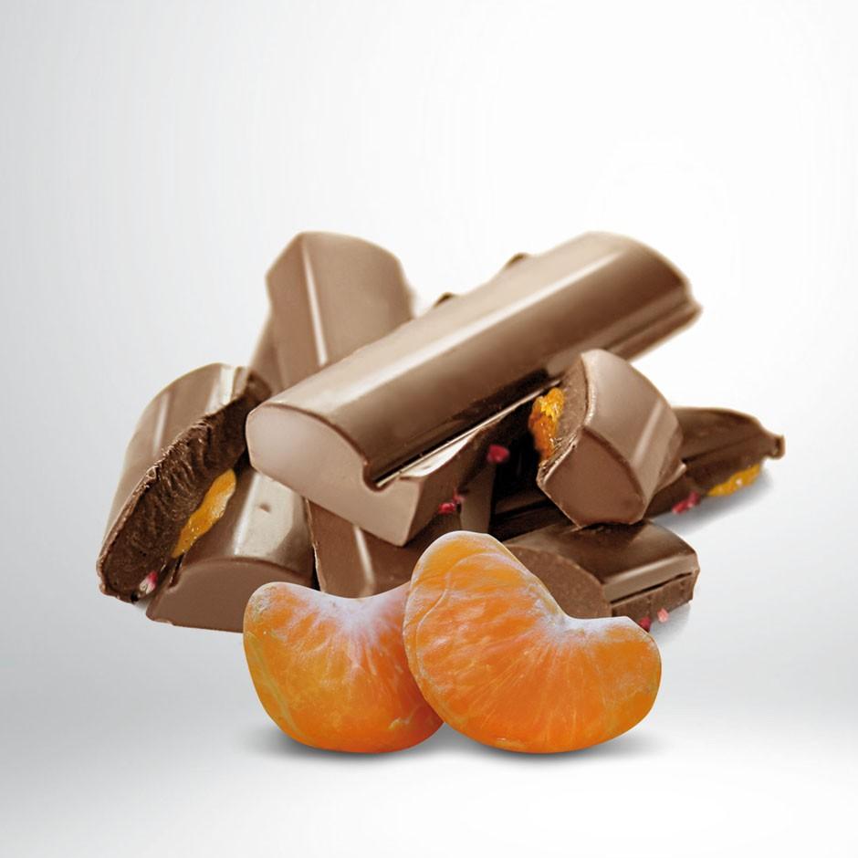 CHOCOLATE CON LECHE 42% CON MANDARINA DE CALABRIA